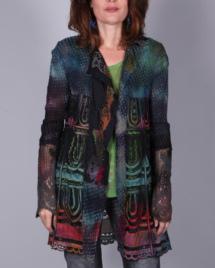 'stained glass' lacy couture kaftan