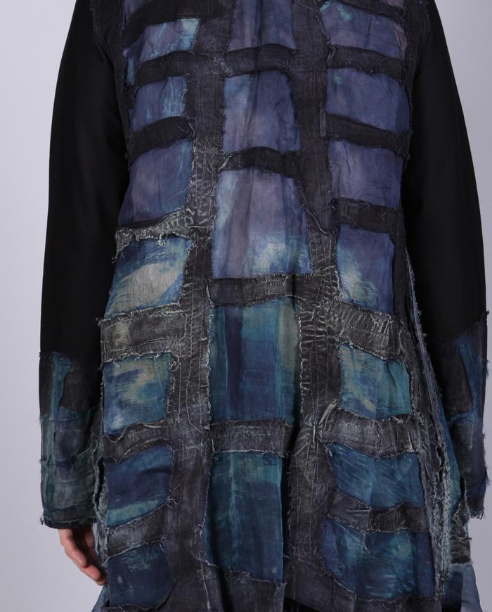 'stained glass' detailed jewel tones organza jacket