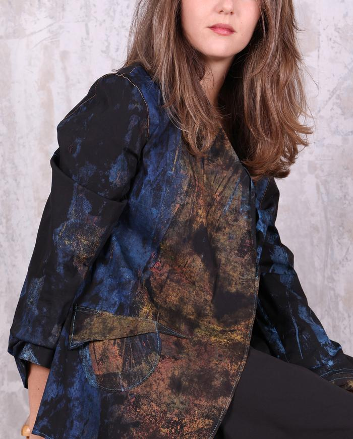'blue gold' lightweight summer jacket