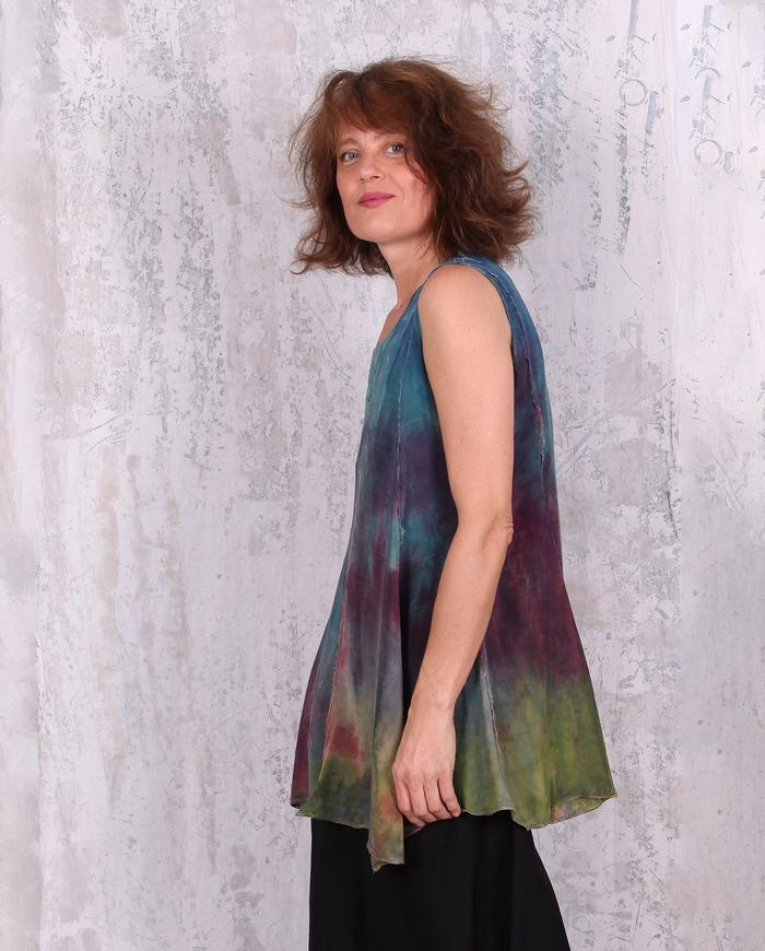 hand-painted sleeveless flare tunic