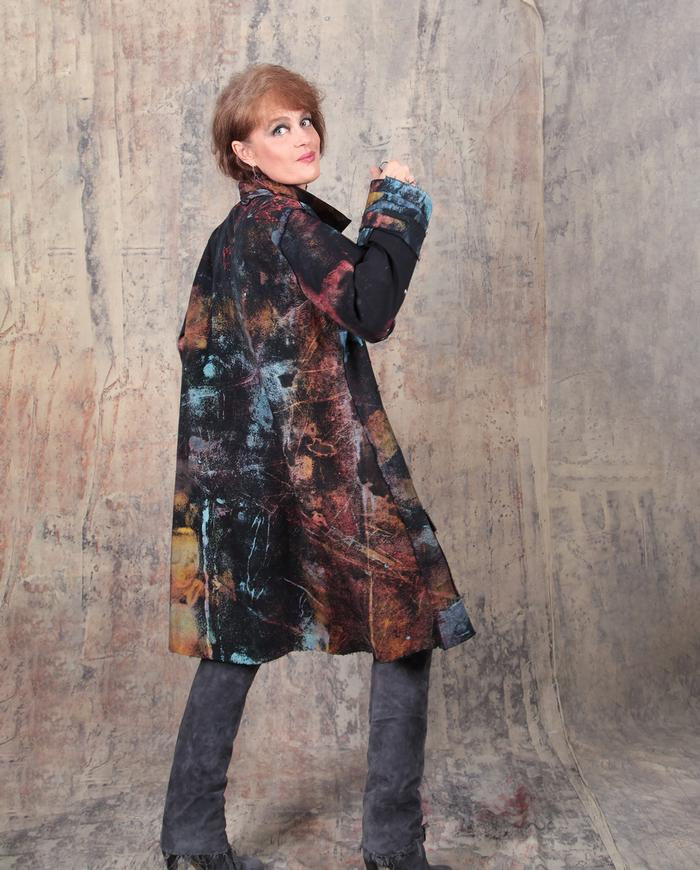 colorful story multi-button long jacket