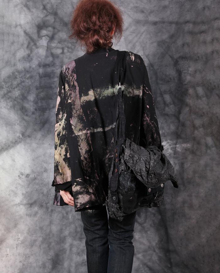 oversized stretchy hand-painted jacket