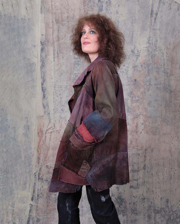 'better than wine' oversized/plus size soft detailed jacket