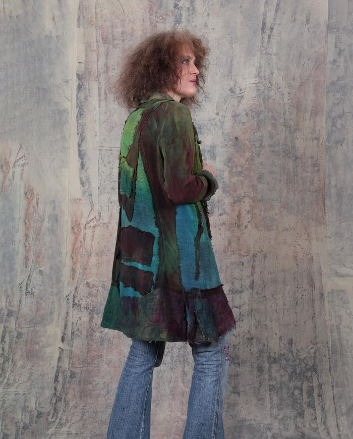'natural zen' colorful patchwork art jacket