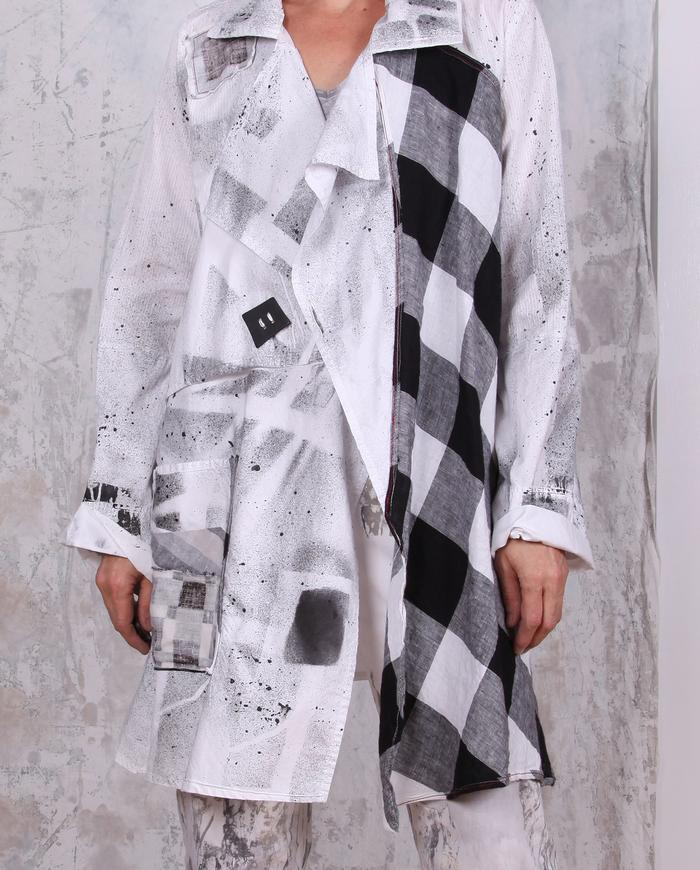 black and white graphic jacket