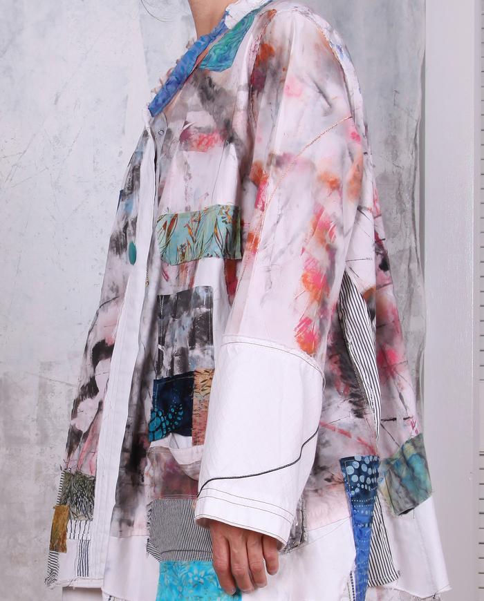 'tell-me-a-story' batik patchwork colorful jacket