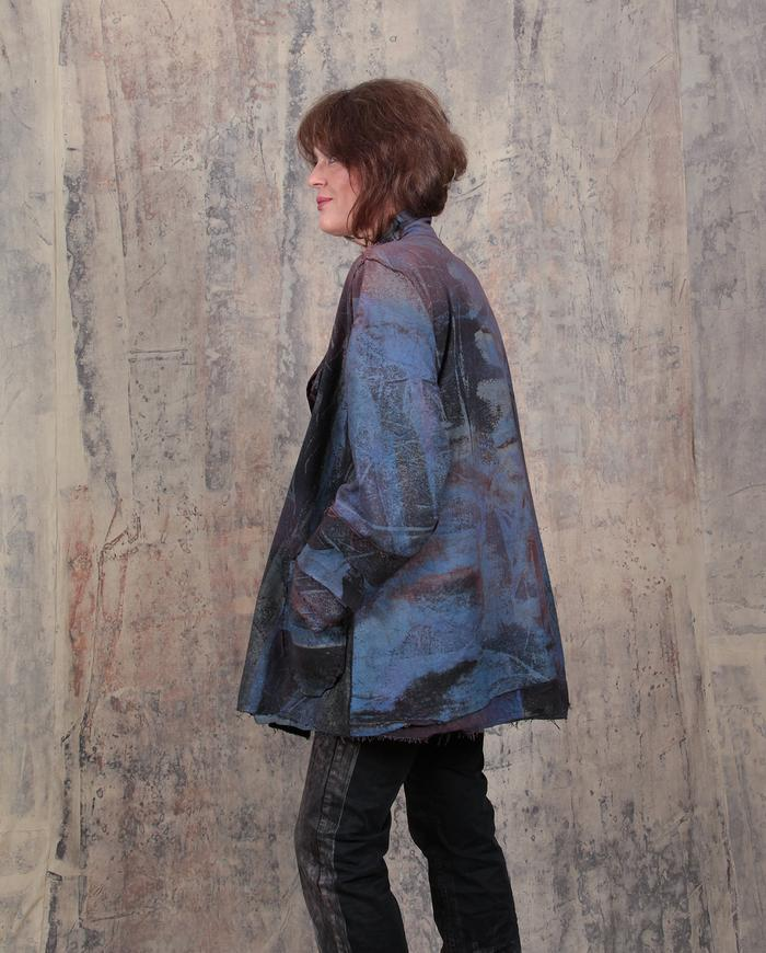 reversible subtle print year-round casual jacket