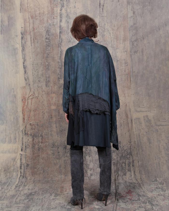 drapey swingy detailed subtle patchwork kaftan