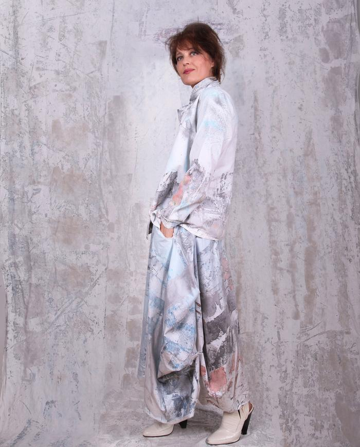 airy hand-painted empire waist maxi sun dress