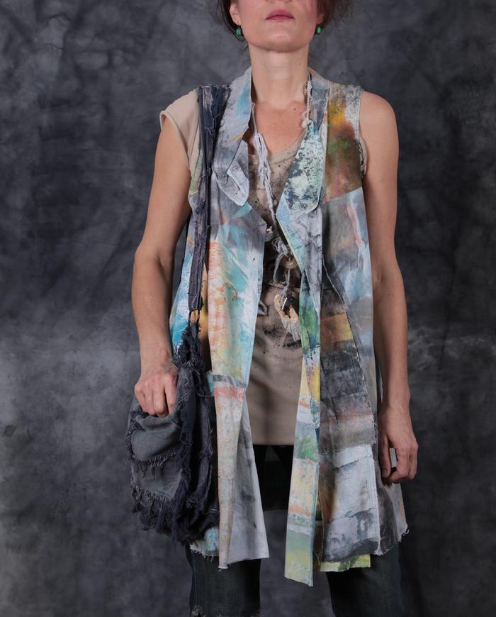 dreamy pastels patchwork vest