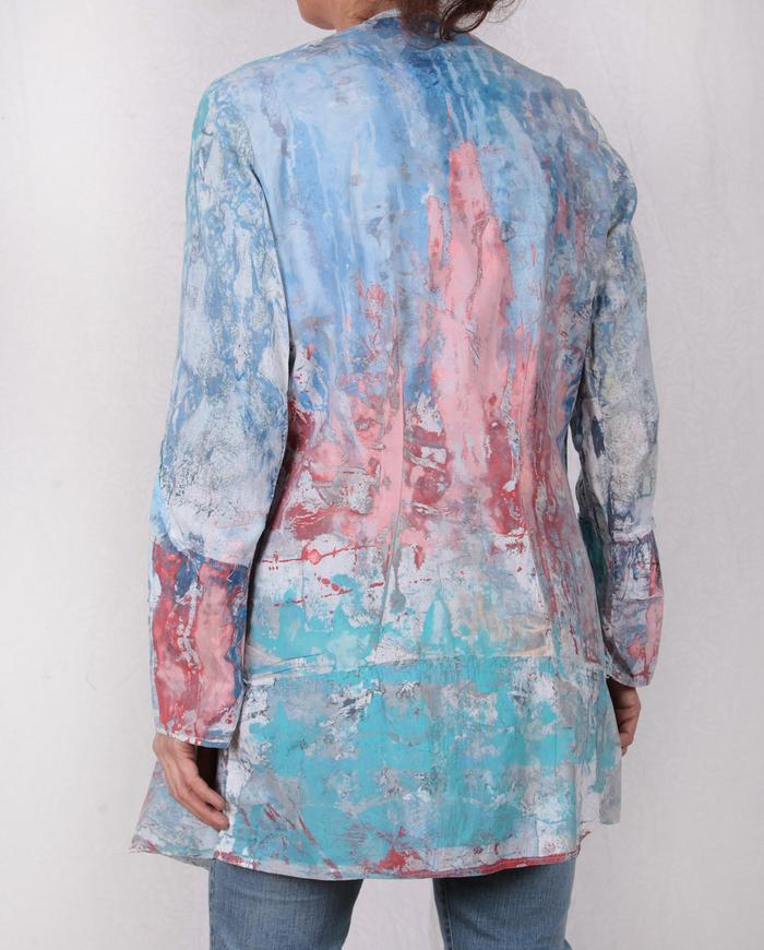 lightweight mixed cottons watercolor jacket