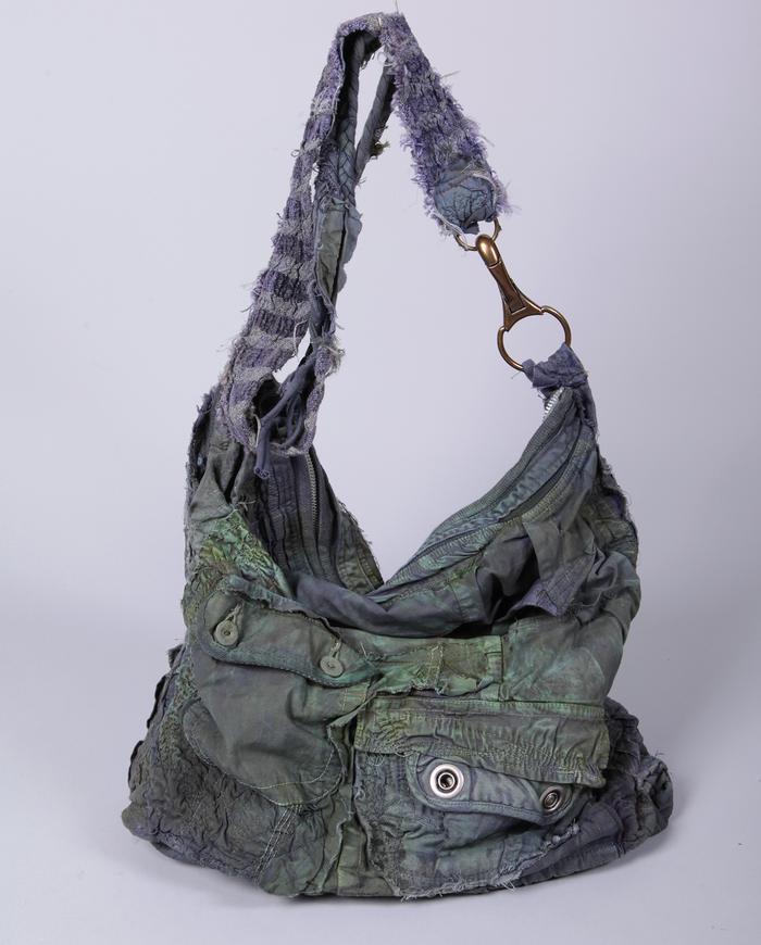 distressed funky detailed large boho handbag