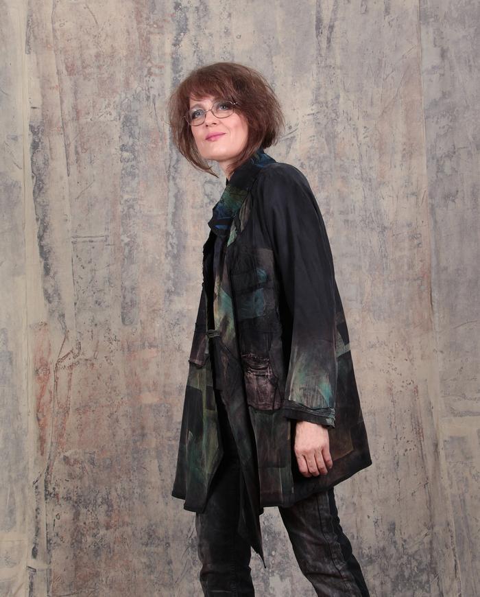 'hints of nature' drapey lightweight jacket
