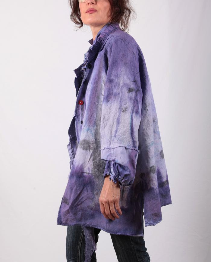 Belgian linen playful hand-painted jacket