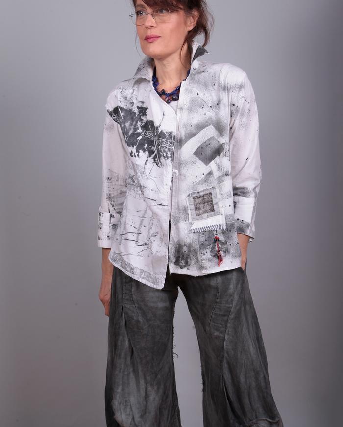 'bw squared' short black and white jacket