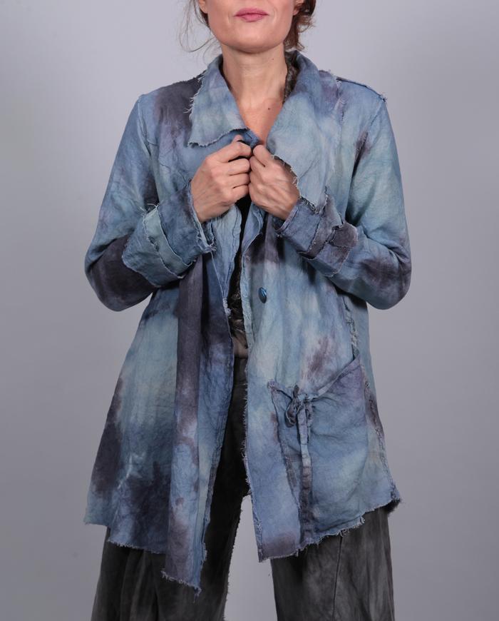 'pure tranquility' lightweight Belgian linen jacket