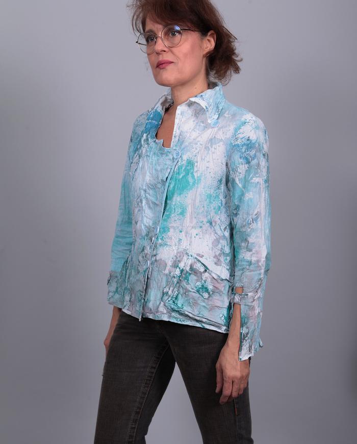 'forever young' super crisp crinkled art jacket