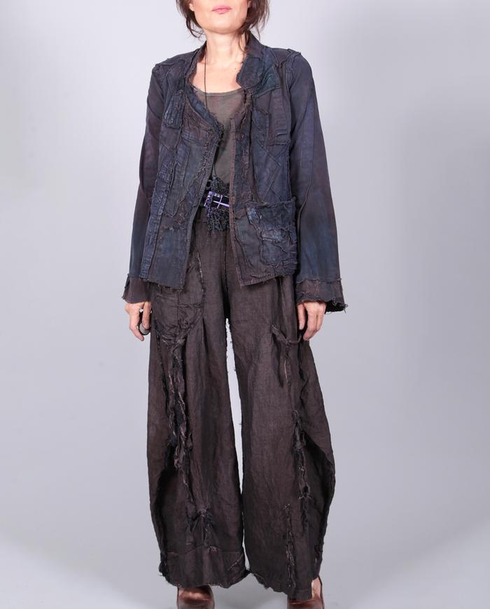 'better than black' Belgian linen detailed pants