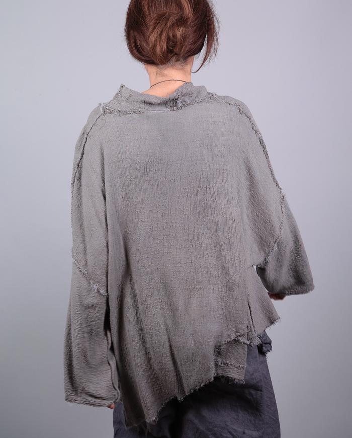'take it easy' asymmetrical fall gauze one-size top