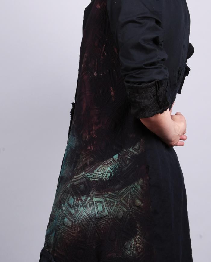 'mix it all up' patchwork snap-front kaftan