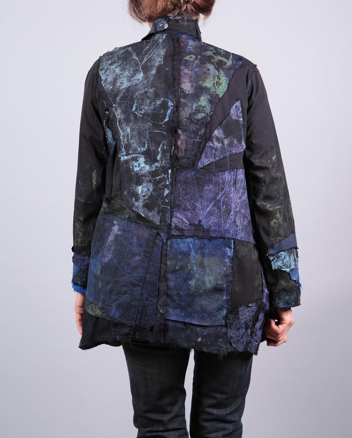 'surprise me' patchwork over black relaxed jacket