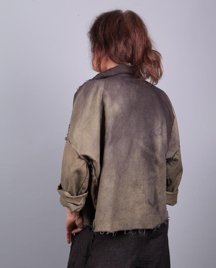 'now or never' one-size ombre canvas jacket
