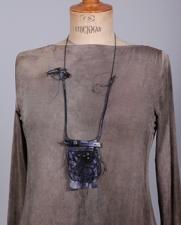 'purple haze' mixed media pendant necklace