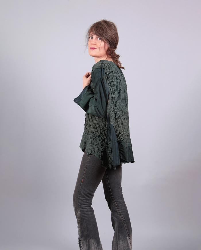 'swing time' one-size pine green top