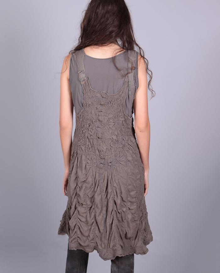 'lost in texture' super detailed knit mini dress