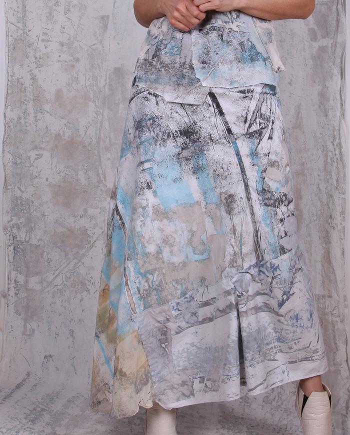 dreamy pastels a-line maxi skirt